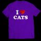 Тениска с щампа I LOVE CATS