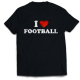 Тениска с щампа I LOVE FOOTBALL