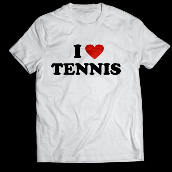 Тениска с щампа I LOVE TENNIS