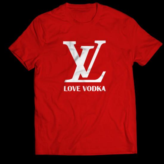 Тениска с щампа LOVE VODKA
