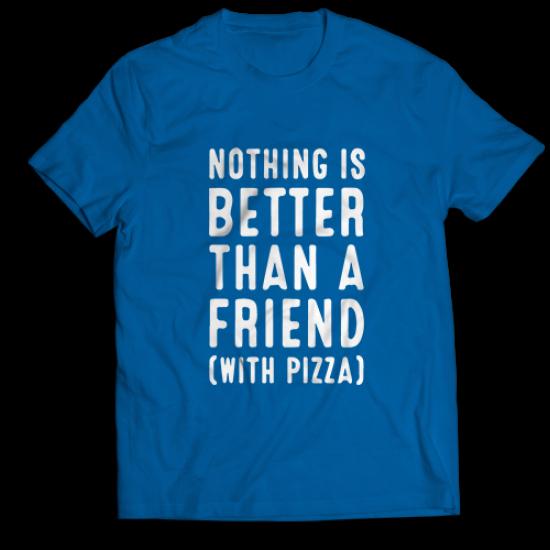 Mъжка тениска с щампа NOTHING IS BETTER THAN A FRIEND