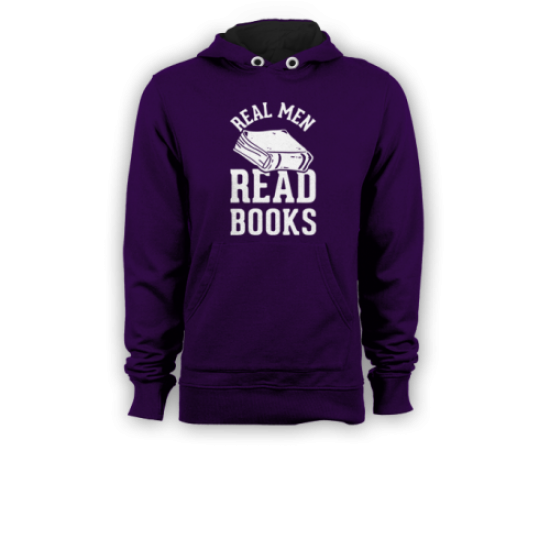 Мъжки суичър с щампа REAL MEN READ BOOKS