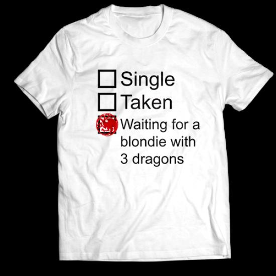 Тениска с щампа BLONDIE WITH 3 DRAGONS