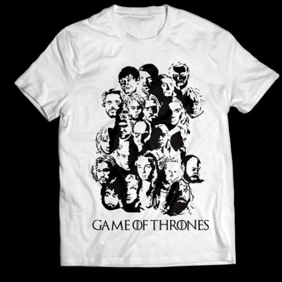 Тениска с щампа  GAME OF THRONES FACES
