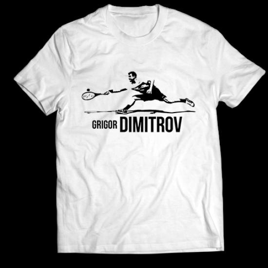 Тениска с щампа  ГРИГОР ДИМИТРОВ