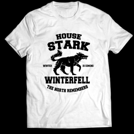 Тениска с щампа HOUSE STARK