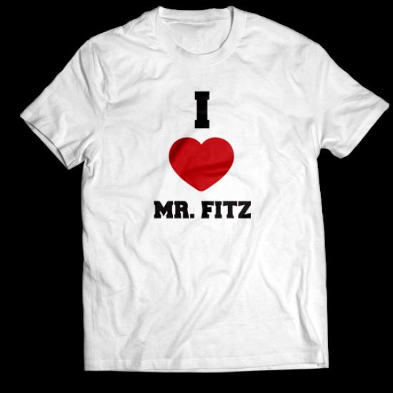 Мъжкa тениска с щампа I <3 MR FITZ