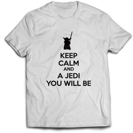 Тениска с щампа  KEEP CALM AND A JEDI YOU WILL BE