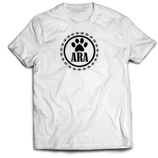 Тениска с щампа С ИМЕ НА ДОМАШЕН ЛЮБИМЕЦ