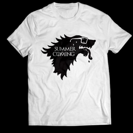 Тениска с щампа SUMMER IS COMING