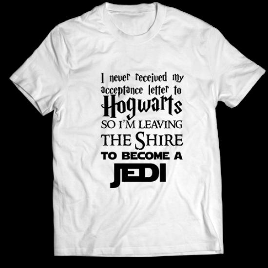 Тениска с щампа TO BECOME A JEDI