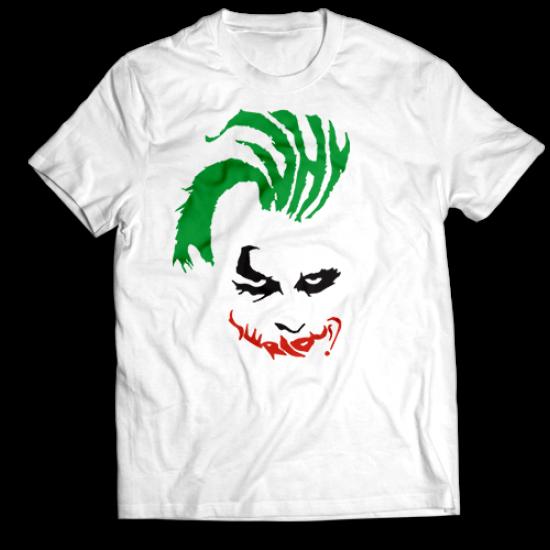 Тениска с щампа WHY SO SERIOUS?