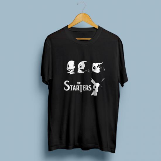 Тениска с щампа THE STARTERS POKEMON
