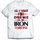 Тениска с щампа christmas is the iron throne