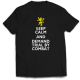 Тениска с щампа DEMAND TRIAL BY A COMBAT