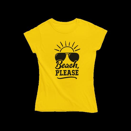 Тениска с щампа Beach Please
